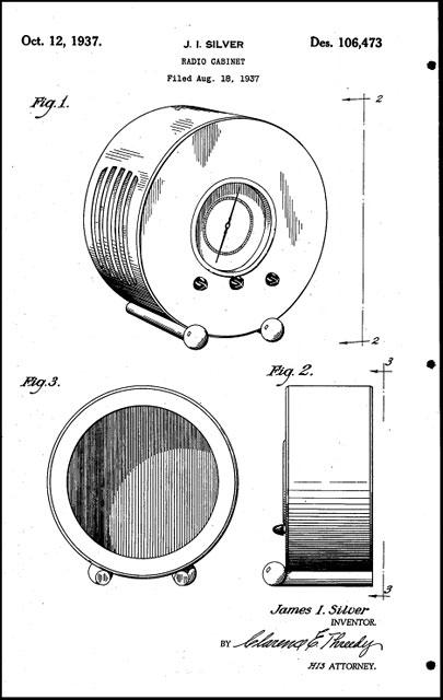 J.I.-Silver-radio-patent