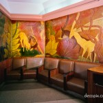 Ladies Lounge (linoleum)-Cincinnati Union Terminal
