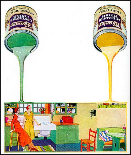 Color paint cans decopix for Art deco colours for painting