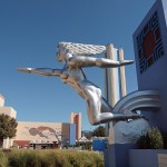 """Installation of replica statue,""""Contralto"""" at Fair Park, Dallas,"""