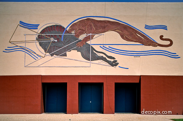 Art deco murals friezes gallery decopix for Dallas mural artists