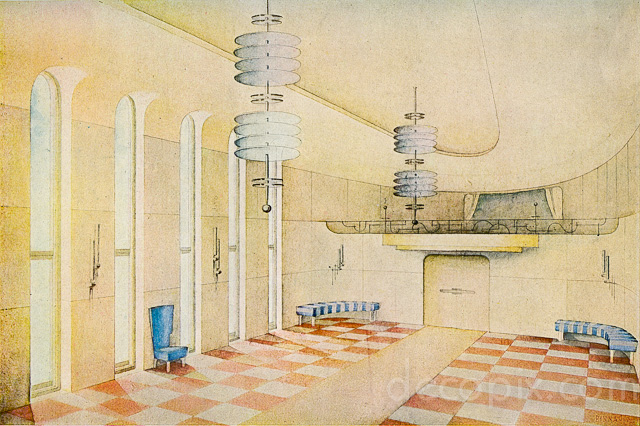Art Deco Architecture Drawings Gallery