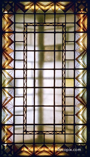 Skylight peace hotel shanghai decopix for Art deco glass windows