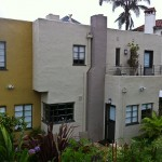 House designed by F. Harvey Slocombe, Oakland, California, court