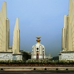 Democracy Monument, Bangkok, Thailand, courtesy, Bob Rose