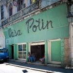 Casa Potin - Havana. Jade Vitrolite storefront