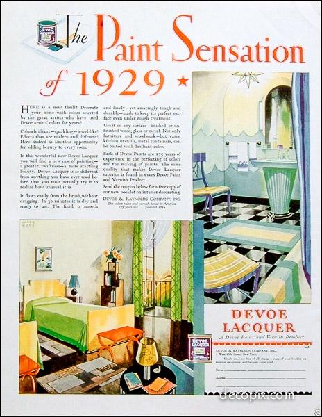 Art Deco Color Schemes Gallery