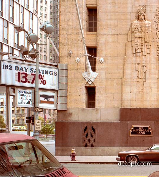 Michigan Bank, Guardian Bldg., Detroit, Michigan, 1980s--look at